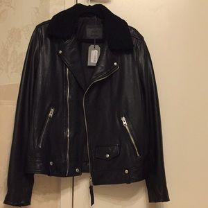 NWT All Saints Leather jacket